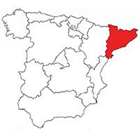 Localisation de l'appellation Catalunya (Espagne)