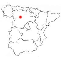 Localisation de l'appellation Cigales (Espagne)