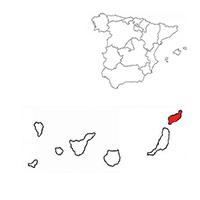 Localisation de l'appellation Lanzarote (Espagne)