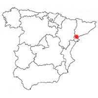 Localisation de l'appellation Montsant (Espagne)