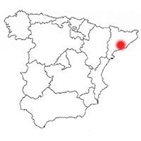 Localisation de l'appellation Penedès (Espagne)