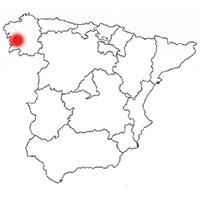 Localisation de l'appellation Rias Baixas (Espagne)