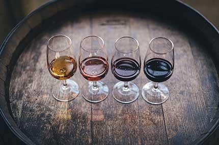 Quatre verres de vins